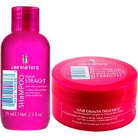 Kit Shampoo+ Máscara Lee Stafford Poker Straight + Hair Growth Treatment Kit - Unissex-Incolor