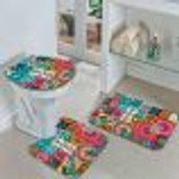 Jogo Tapetes Para Banheiro Multi Mandalas Único