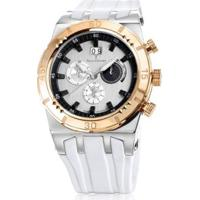 Relógio Jean Vernier Caixa Aço Pulseira Silicone Feminino - Feminino