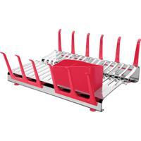 Escorredor De Louças Tramontina Aço Inox Plurale Vermelho