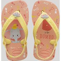 Chinelo Infantil Havaianas New Baby Disney Classics Dumbo Com Elástico Rosê