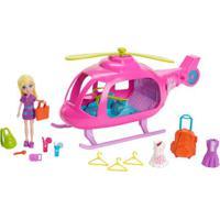 Boneca Polly Pocket - Helicóptero Da Polly - Mattel