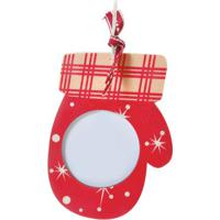 Enfeite De Porta Retrato Luva- Branco & Vermelho- 5Xcromus