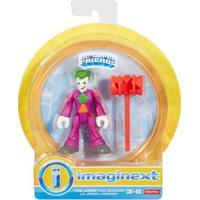 Mini Figura De Ação - Dc Comics - Imaginext - Coringa Com Acessórios 15 Cm - Mattel - Masculino-Incolor