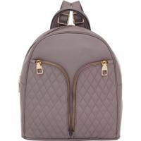 Mochila Smartbag De Couro Nozes - 78058