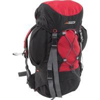 Mochila Cargueira Nautika 200200 Everest 35 Litros Trekking Preta/Vermelha