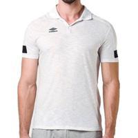 Camisa Polo Umbro Twr Style Classic Masculina - Masculino-Branco