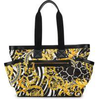 Young Versace Bolsa Maternidade Com Estampa Barroca - Amarelo