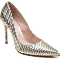 Sapato Scarpin Schutz Metalizado Em Couro
