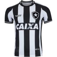Camisa Do Botafogo I 2018 Topper - Masculina - Preto/Branco