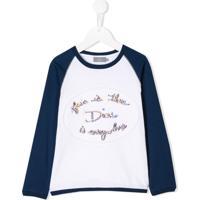 Baby Dior Boné Com Slogan Bordado - Branco