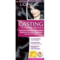 Coloração Permanente Casting Creme Gloss N° 100 Preto Noite L'Oréal 1 Unidade