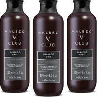 Combo O Boticário Malbec Club: Shampoo Grey 250Ml (3 Itens)