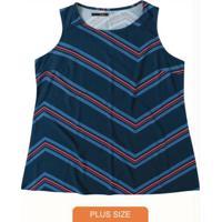 Blusa Azul Marinho Estampa Digital Wee!