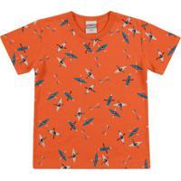Conjunto De Camiseta Caiaque + Bermuda- Laranja & Azul Mkamylu'S