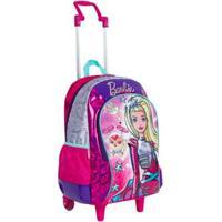Mochila Infantil Sestini Barbie Aventura Nas Estrelas Com Rodinhas - Feminino-Rosa