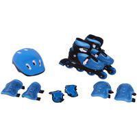 Kit Rollers Belfix Patins Radical Ajustável Azul