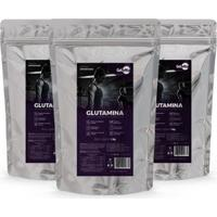 Kit 3 Unidades Glutamina Pura 1 Kg L-Glutamina Gelvitta - Unissex