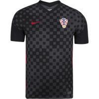 Camisa Croacia 2 2020 Torcedor Nike Masc - Cinza Escuro/Preto