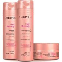 Kit Cadiveu Hair Remedy Shampoo 250Ml + Condicionador 250Ml + Máscara 200Ml - Feminino-Incolor