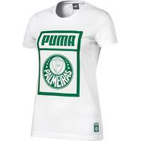 Camiseta Palmeiras Puma Graphic Feminina - Feminino-Branco+Verde