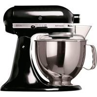 Batedeira Kitchenaid Stand Mixer Artisan 127V Onyx Black 300W Com 10