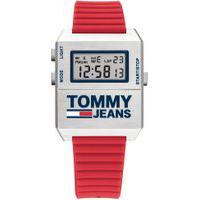 Relógio Tommy Jeans Masculino Borracha Vermelha - 1791674