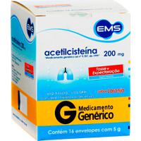 Acetilcisteína 200Mg Ems 16 Envelopes