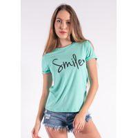 Blusa Nózinho Kaisan Com Silk Smile Verde Água