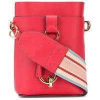 Zac Zac Posen Stripe Detail Crossbody Bag - Vermelho