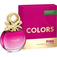 Perfume Feminino Colors Pink Benetton Eau De Toilette 50Ml - Feminino-Incolor