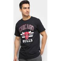 Camiseta Nba Chicago Bulls Team Arch Masculina - Masculino-Preto