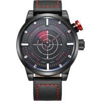 Relógio Weide Analógico Wh-5201 Vermelho