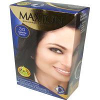 Tintura Embelleze Maxton Kit Coloração Creme 3.0 Castanho Escuro