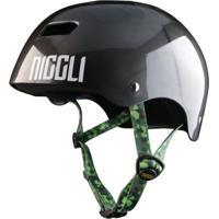 Capacete Niggli Pads Iron Profissional Titanium Fita Camuflada