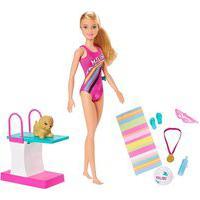 Boneca Barbie Nadadora Explorar E Descobrir Com Acessórios Colorido
