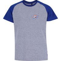 Camiseta Nba Oklahoma City Thunder Raglan Mini Logo - Infantil - Cinza