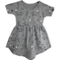 Vestido Infantil Caiçarinhas Baby Confort Raposinhas Nas Estrelas