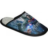Pantufa Avengers Infantil - Masculino-Marinho