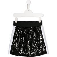 Alberta Ferretti Kids Sequin Skirt - Preto