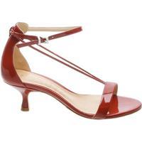 Kitten Heel Thin Strap Tango Red | Schutz