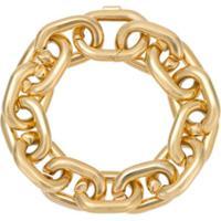 Jack Vartanian Pulseira 'Chain P' Prata Com Banho Ouro 18K - Dourado
