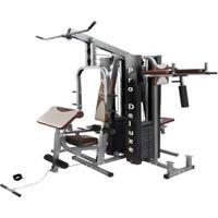 Aparelho De Musculação Ginastica Academia Pro Deluxe - Unissex