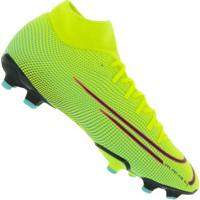 Chuteira De Campo Nike Mercurial Superfly 7 Academy Mds Fg/Mg - Adulto - Amarelo Fluor/Preto