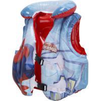 Colete Salva-Vidas Inflável Bestway Homem Aranha - Infantil - Azul/Vermelho
