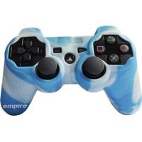 Capa De Silicone Para Controle Joystick Playstation 3 Azul E Branco