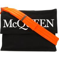 Alexander Mcqueen Logo Print Holdall Bag - Preto