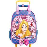 Mochila De Rodinhas Princesas Disney Aurora Azul