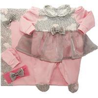 Saída De Maternidade Luna Rosa 100% Algodão I9 Baby