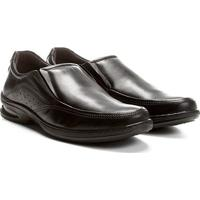 Sapato Social Couro Pegada Bico Redondo - Masculino-Preto